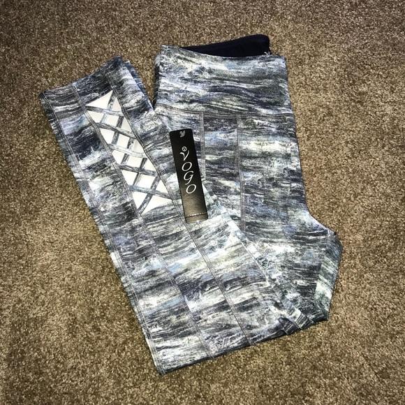 56c37a11d6ee2d VOGO Athletica Pants | Nwt Grey And Blue Yoga | Poshmark